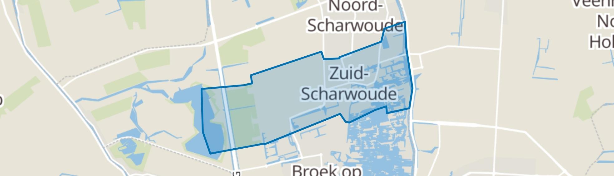 Zuid-Scharwoude map