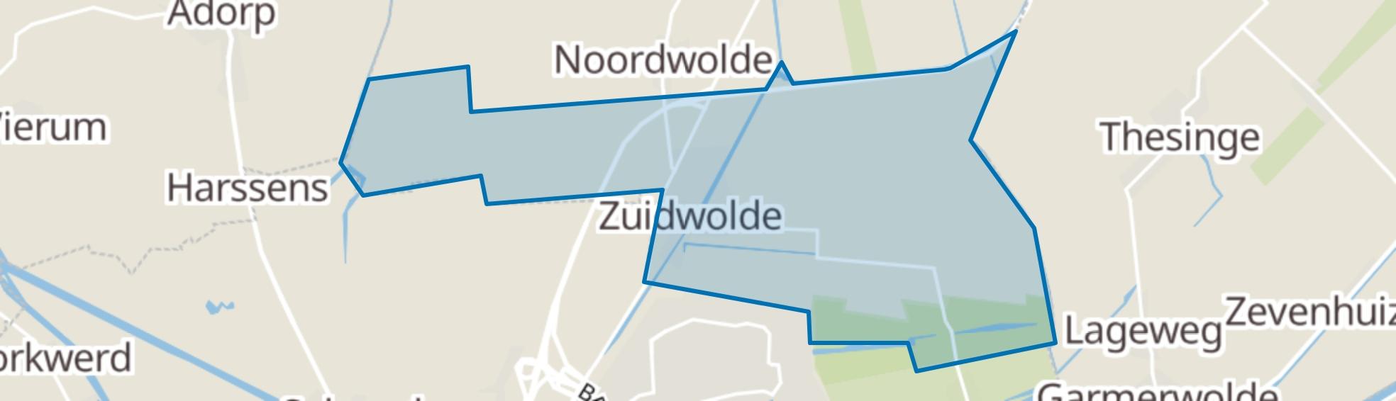 Zuidwolde (GR) map