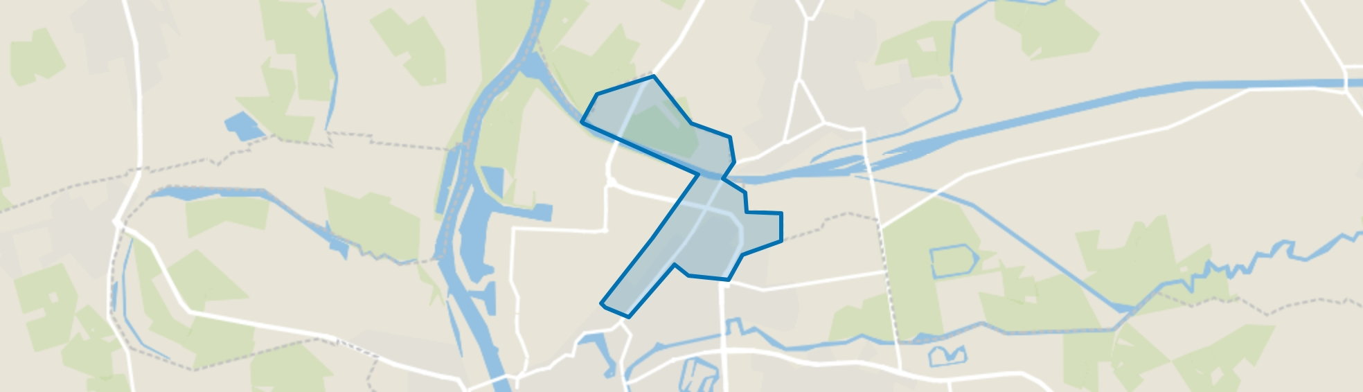 Deventerweg en Polbeek, Zutphen map