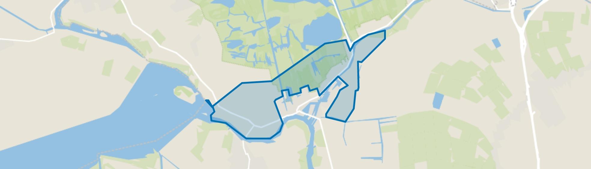 Landelijk gebied Zwartsluis, Zwartsluis map