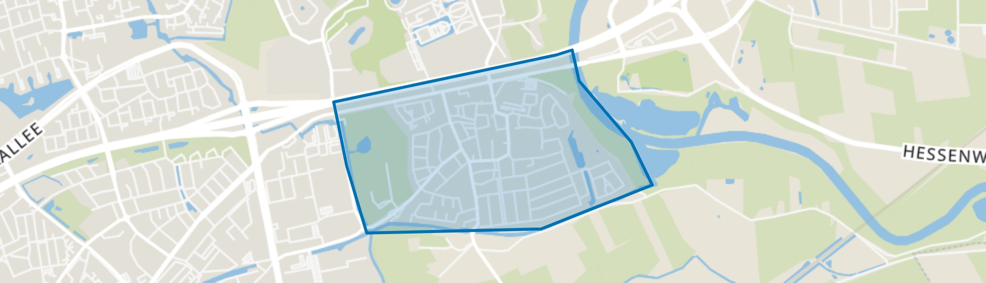 Berkum, Zwolle map