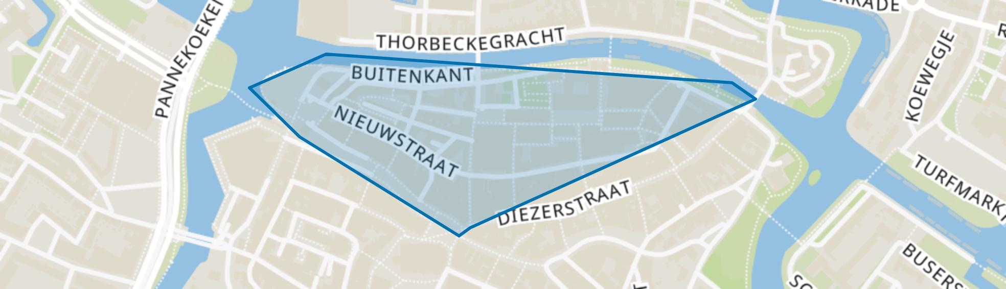Binnenstad-Noord, Zwolle map
