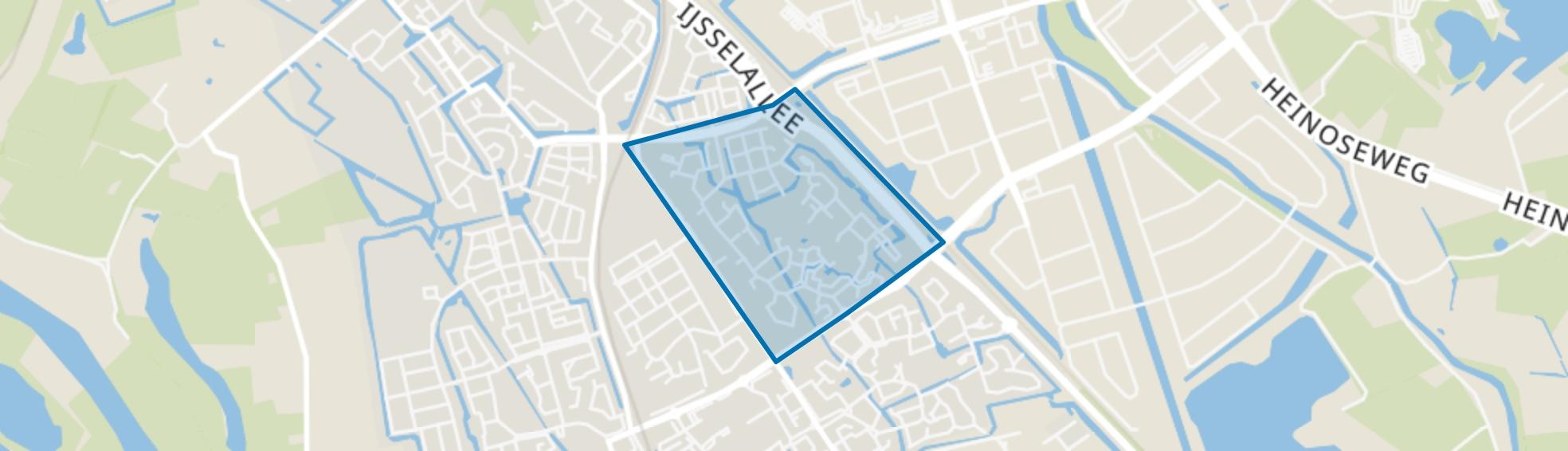 Gerenlanden, Zwolle map