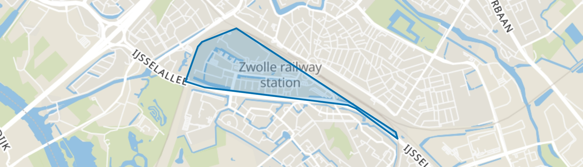 Hanzeland, Zwolle map