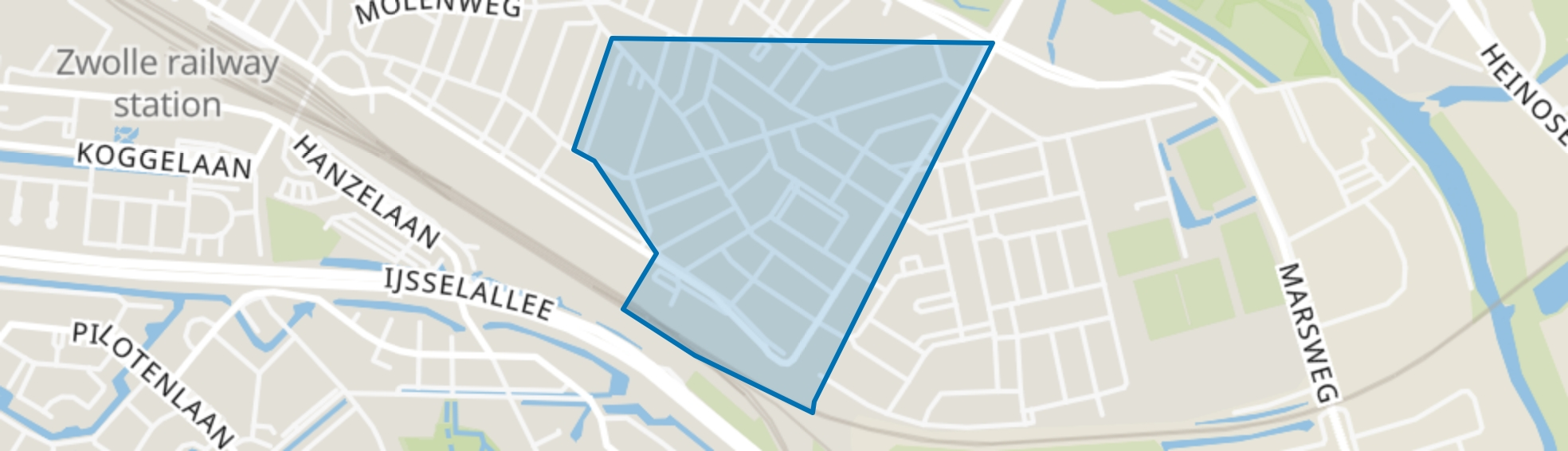 Nieuw-Assendorp, Zwolle map