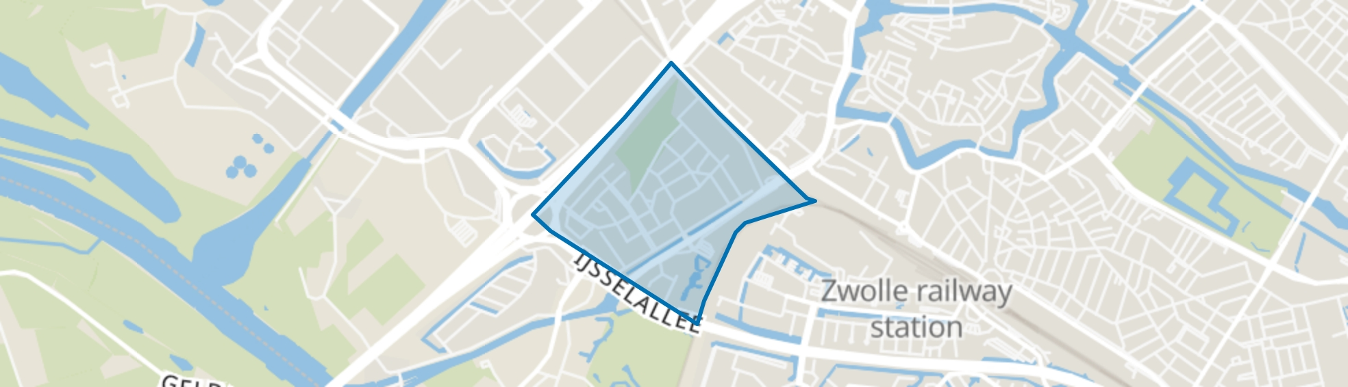 Veerallee, Zwolle map