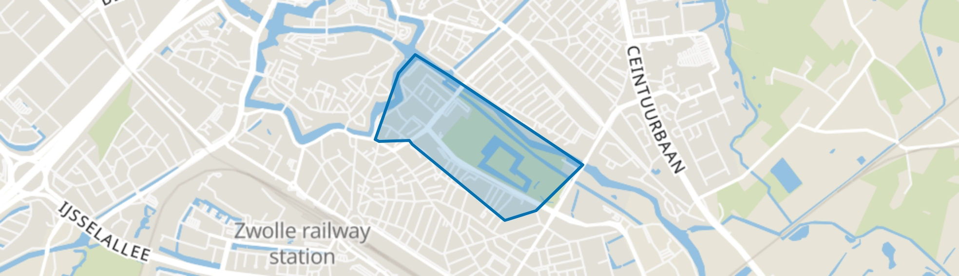 Wezenlanden, Zwolle map