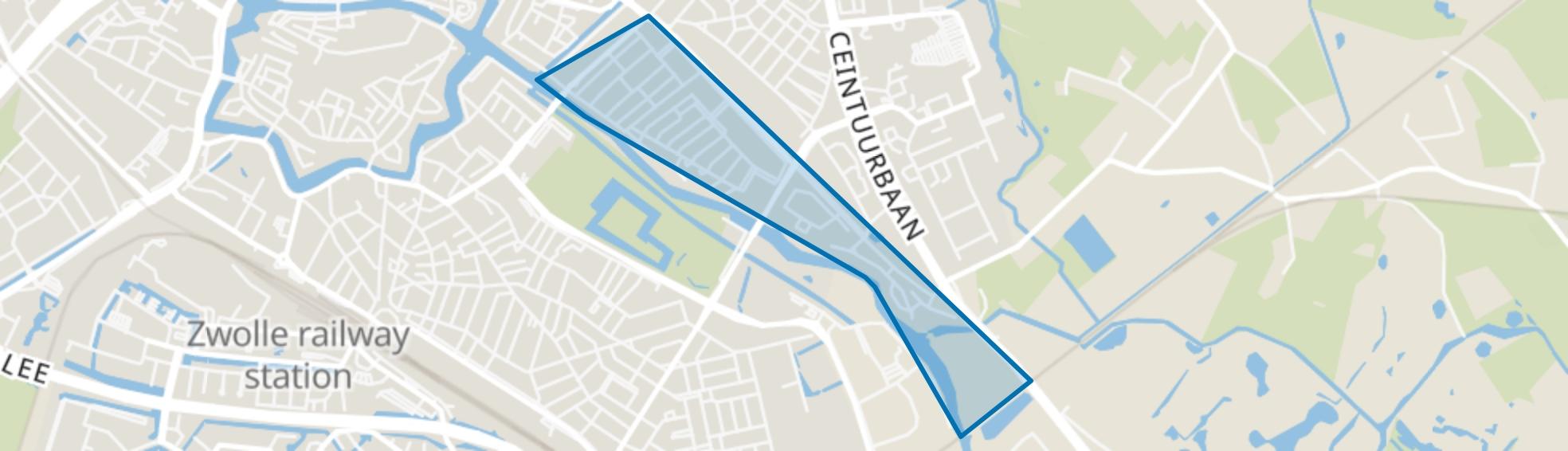Wipstrik-Zuid, Zwolle map